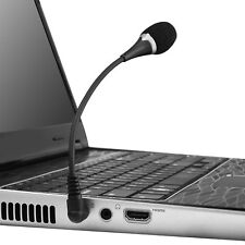 3.5mm Flexible Mini Microphone Mic for Laptop Notebook PC Podcast Skype Cha