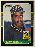 1987 Donruss #361 Barry Bonds Rookie - NM/Mint - Pittsburgh Pirates