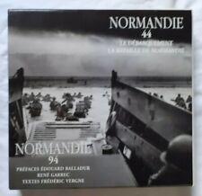 Coffret 2 Volumes Normandie 1944 1994 Débarquement Guerre Photo Vergne
