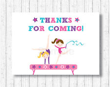 Gymnastics Party Favor Thank You Tags