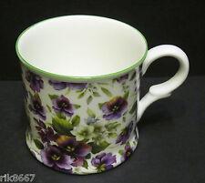 1 Pansy White Small English Fine Bone China Mug Cup By Milton China