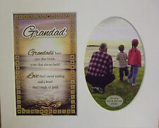 """Grandad"" Keepsake photo mount to fit 8"" x 10"" Bedroom Living Room Home Study"