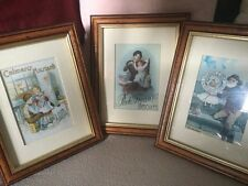 3 Iconic Framed Advertising Prints,Peek Frean Biscuits,Lifebouy Soap & Coleman's