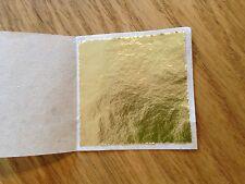100 x 24K Gold Leaf Sheets. For Art Crafts Design Gilding Framing Scrap