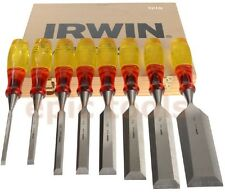IRWIN MARPLES 8 Piece Split Proof M373 Honed Hand Wood Chisel Set & Case 6-50mm