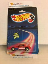 #1  Fiero 2M4 1458 * RED * 1986 Malaysia * Vintage Hot Wheels * E31