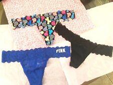 NWT Victoria's Secret PINK Lacie Thong String Bikini Panty LOT Sz M