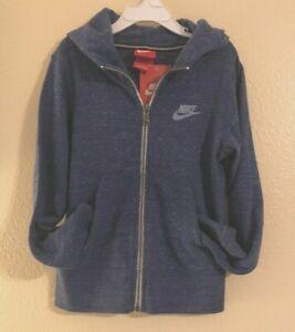 Nike Girl's Size Meduim Vintage Zip Hoodie Lightweight 824206 456