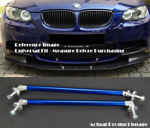 "Blue 9.5"" Bumper Lip Diffuser Spoiler Splitter Strut Support Rod Bar For Nissan"