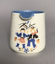 Unusual Poole Pottery Milk Jug - 2 Women in Autumn