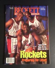 Beckett Basketball Card Monthly January 1997 #78 Olajuwon Barkley Drexler Cover