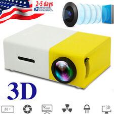 "3D Portable Projector HD 1080P 50 Lumen HDMI/USB/SD/AV Cinema Video 24-60"" Image"