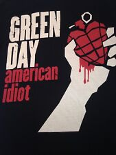Green Day Heart Grenade Black Medium T-Shirt American Idiot Rock Music Band 2010