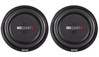 """(2) MB Quart DS1-304 12"""" 800W Shallow Mount Car/Truck Subwoofers + 2"""" Voice Coil"""