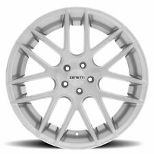 Zenetti Monterey Wheels Brushed Silver 20x10 Square Fits Ford Mustang