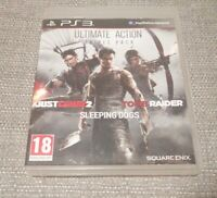 Sony PS3 Playstation 3 - Ultimate Action Triple Pack Just Cause Tomb Sleeping