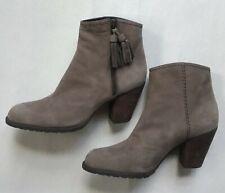 New Stuart Weitzman Womens Nubuck Leather Tasseled Ankle Booties Brown SZ 6.5