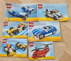 Lego Creator 6 Bauanleitungen  !!