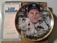 "The ""Legendary"" Lou Gehrig 23K Gold Bordered Commemorative Plate."
