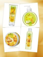 Faberlic Caramelized Pear Set Shower Gel Liquid Hand Wash Hand cream Body Mousse
