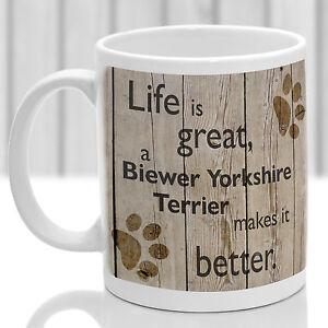 Biewer Yorkshire Terrier dog mug, Biewer dog gift, ideal present for dog lover