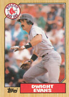 Dwight Evans 1987 Topps #645 Boston Red Sox baseball card