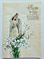 """Vintage Rust Craft Greeting Card """"A Message For Your Wedding"""" New Rare"""