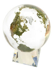Shasta Visions 6-Inch Clear Crystal Earth Sphere / Globe