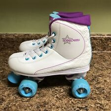 Roller Derby Quad Star 600 Womens Skates White Blue Purple Size 6