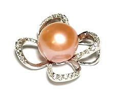 Marvelous Peach Rose Pink Edison 10.3mm Cultured Round Pearl Vintage Pendant