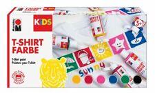 Marabu KiDS Textilfarbe T-Shirt Farbe 6 x 80 ml Stoffmalfarbe Kinder Malen
