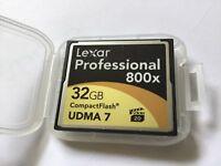 1pcs 32gb LEXAR Pro UDMA7 800x Compactflash for CF DSLR NIKON CANON  cameras