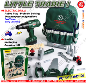 Kids Construction Tool Set Toy Builder Screwdriver Gift Pretend Role Play worker