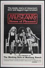 MUSTANG HOUSE OF PLEASURE Movie POSTER 27x40 Joe Conforte Sally Conforte Tony