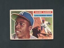 1956 Topps Baseball-#31 Hank Aaron, Milwaukee Braves HOF, vg/ex (WB)