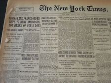 1928 JUNE 22 NEW YORK TIMES - NORWAY & FRANCE ORDER SHIPS TO HUNT - NT 6455