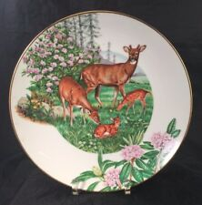 Southern Forest Families Whitetail Deer Southern Living Collector's Plate no box