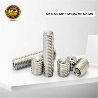 M1.6/2/2.5/3/4/5/6/8 Stainless Steel Hex Socket Set Flat Point Hex Socket Screw