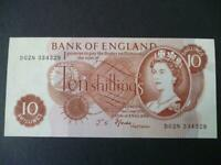 A 1967 B310 FFORDE TEN SHILLING NOTE LAST SERIES PREFIX D02N UNCIRCULATED.