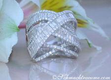 Echter Ringe im Statement-Stil aus Weißgold