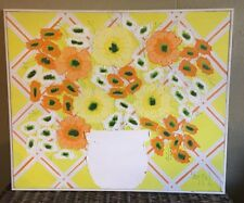 Estate Sale Mid Century Modern Oil Painting Flowers Expressionism Signed Kitchen