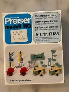 PREISER HO Scale #17185 Workshop Equipment Kit