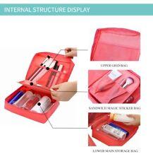 Toiletry Cosmetics Case Bag Multi Organizer foldable protects holdall travel UK