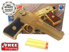 Nerf Style Toy Gun Classic Pistol Desert Eagle Kid Dart Guns Soft Bullet Outdoor