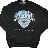 Vintage Authentic NFL Dallas Cowboys Salem Sportswear L Crew Neck Sweatshirt