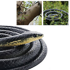 "Fake Realistic Rubber Snake Black Mamba Toy 52"" Long Props Scary Gag"
