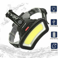 50000LM COB LED Headlight Head Lamp USB Rechargeable Lantern For Outdoor Camping