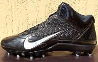 Mens Nike Alpha Pro TD Mid Football Cleats Size 9/9.5/10/10.5/11/11.5 Black