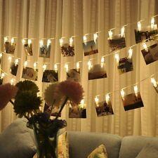 LED Foto Clip Lichterketten Licht Stimmungsbeleuchtung Warmweiß Wanddekoration