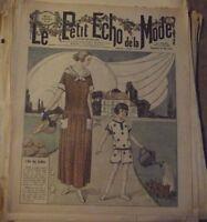 1923 Gravure Ancienne le Petit Echo de la Mode Mai l'Art des Jardins